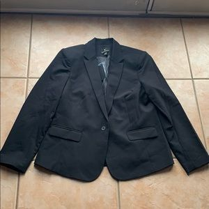 NWT Worthington Black Single Button Blazer Size 18